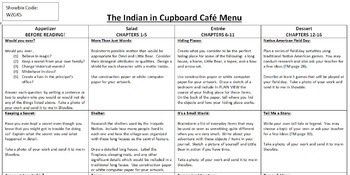 Indian in the Cupboard Activity Menu