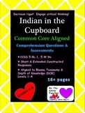 Indian in the Cupboard Common Core Aligned Questions & Assessments