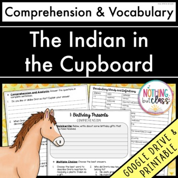 The Indian in the Cupboard: Comprehension and Vocabulary by chapter