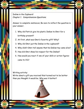 Indian in the Cupboard ELA Study Novel Guide Complete Printable