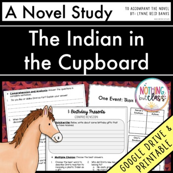 The Indian in the Cupboard Novel Study Unit Distance Learning