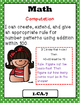"""Indiana 1st Grade Math Standards """"I Can Statements"""""""