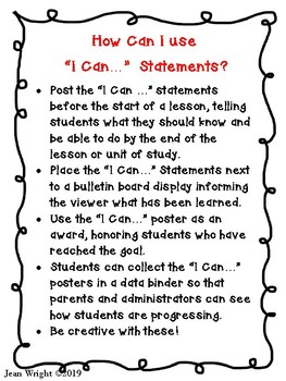 "Indiana 1st Grade Social Studies Standards ""I Can Statements"""