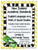 Indiana 2014 Standards 3rd Grade I Can Statements English/LA Math Social Studies