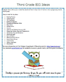 Third Grade Indiana 2014 Standards BIG Ideas Parent Information