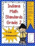 """Indiana 2nd Grade Math Standards """"I Can Statements"""""""