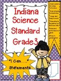 "Indiana 3rd Grade Science ""I Can Statements"""