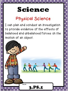 """Indiana 3rd Grade Science """"I Can Statements"""""""