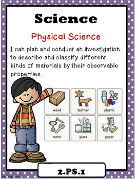 """Indiana 2nd Grade Science """"I Can Statements"""""""