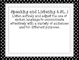 Indiana 6th Grade Speaking and Listening/ Media Literacy Standards Posters