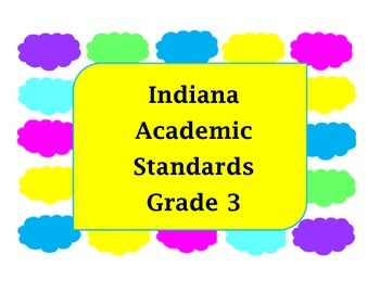 Indiana Academic Math Standard Grade 3