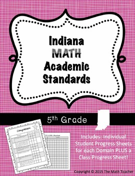 Indiana MATH Academic Standards Checklist for 5th Grade