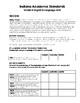 Indiana Academic Standards Checklist.Grade 4