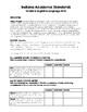 Indiana Academic Standards Checklist.Grade 6