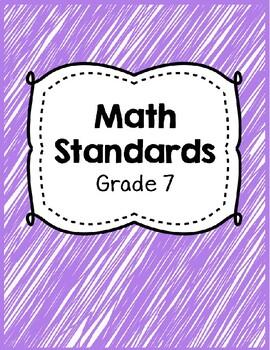 Indiana Academic Standards Checklist.Grade 7