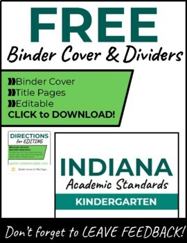 Indiana Academic Standards Checklist.Kindergarten to Grade 8 GIANT BUNDLE
