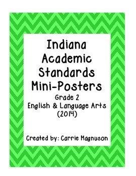 Indiana Academic Standards for English/Language Arts (2014): Grade 2