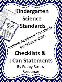 Indiana Academic Standards for Kindergarten Science 2016