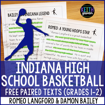 Indiana Basketball Paired Texts: Romeo Langford and Damon Bailey (Grades 1-2)