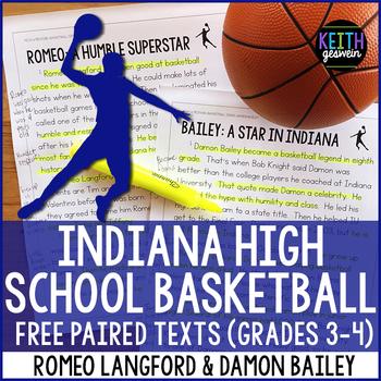 Indiana Basketball Paired Texts: Romeo Langford and Damon Bailey (Grades 3-4)