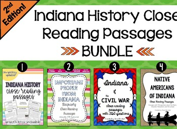 Indiana Close Reading Passage Bundle **2nd EDITION**