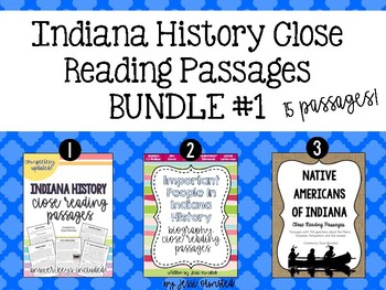 Indiana Close Reading Passages BUNDLE