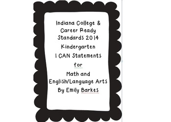 ~KDG~ I Can Statements for Indiana 2014