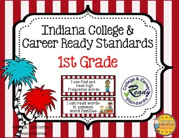 Indiana College and Career Ready Standards ~1st Grade~