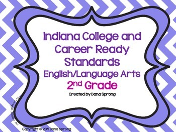 Indiana College and Career Ready Standards 2nd Grade