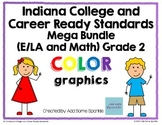 Indiana College and Career Ready Standards Color Display Posters for 2nd Grade