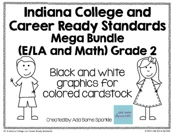 Indiana College and Career Ready Standards Display Posters for 2nd Grade