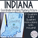 Indiana Coordinate Graphing Picture 1st Quadrant & ALL 4 Q