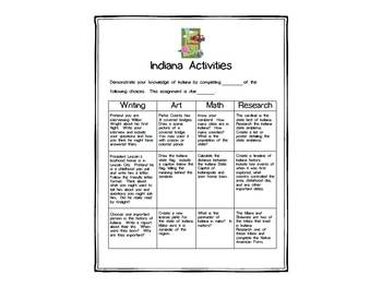 Indiana Differentiated State Activities