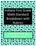 Indiana First Grade Math Standard Rubrics Sample