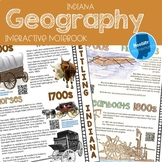 Indiana Geography Interactive Notebook Activity Pack