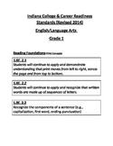 Indiana Grade 1 English Language Arts 2014 NEW Standards