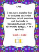 Indiana Grade 5 Mathematics I Can Statement Posters and Checklists