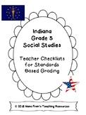 Indiana Grade 5 Social Studies Teacher Checklists