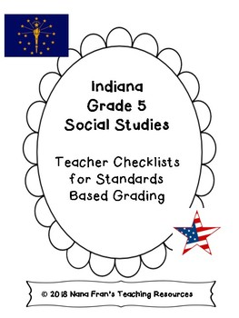Indiana Grade 5 Social Studies Teacher Checklists