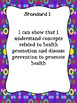 Indiana Health 5th Grade - I Can Statement Posters and Teacher Checklists