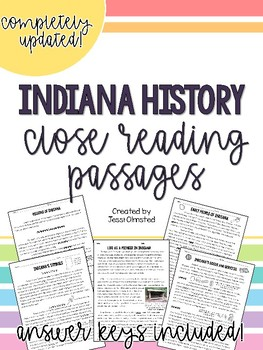 Indiana History Close Reading Passages