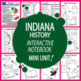 Indiana History State Study Interactive Notebook Unit + AUDIO