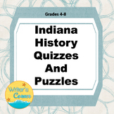 Digital Indiana History Quizzes and Puzzles, Coloring Pages, Famous Hoosiers