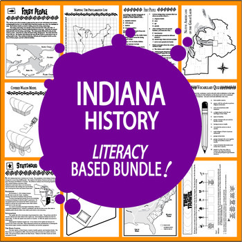 Indiana History Bundle – TEN Engaging Literacy-Based Indiana State Study Lessons