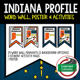 Indiana History Word Wall, State Profile, Activity Pages