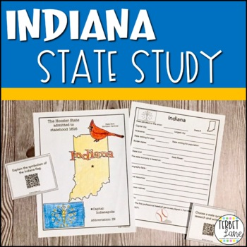 Indiana History and Symbols Unit Study with QR codes