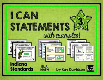 Indiana I CAN Statements Grade 3