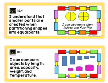 Indiana I CAN Statements for Grade 1
