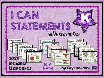 Indiana I CAN Statements for Kindergarten