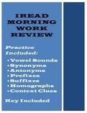 Indiana IREAD Morning Work Practice
